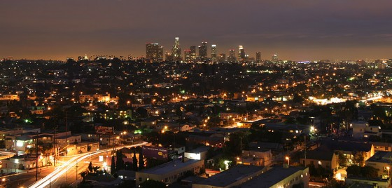 Photo of L.A. at night