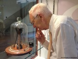The late Professor John Mainstone cared for the pitch drop experiment. (University of Queensland, Australia, School of Mathematics and Physics)