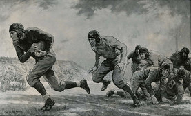 The science of football. (image courtesy of the Connecticut State Library)