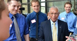 NASA chief Charles Bolden meets with CU students on Friday, April 18, 2014. Photo: University of Colorado