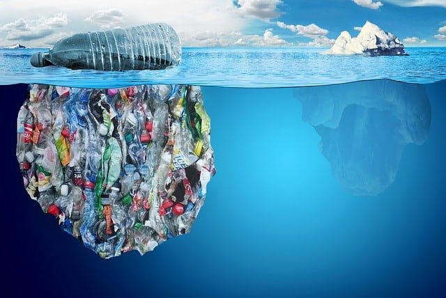 plastic in the ocean The area of increased plastic particles is located within the north pacific gyre, one of the five major ocean gyres.